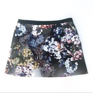 NWOT Topshop Floral Garden Print Mini Skirt 4